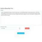 Article Rewriter Pro - SEO Tool Addon