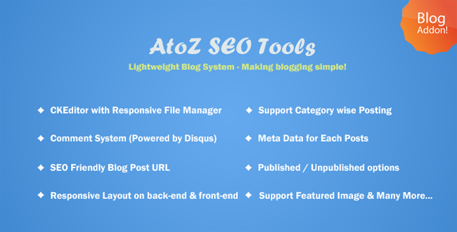 AtoZ SEO Tools Blog Addon