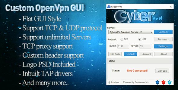 Custom OpenVPN GUI