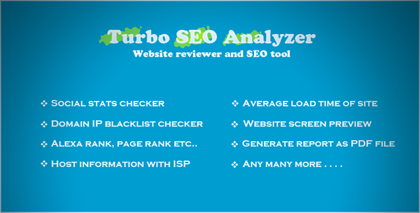 Turbo SEO Analyzer